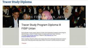 Pengisian Aplikasi Tracer Study Diploma 3 Fisip